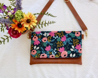 Canvas Rosa Navy Florals Cross-Body (Rifle Paper Co.)