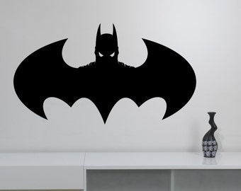 Batman Logo Wall Decal Dark Knight Vinyl Sticker Superhero Art Marvel Comics Decorations for Home Bedroom Teen Kids Boys Room Decor bat11