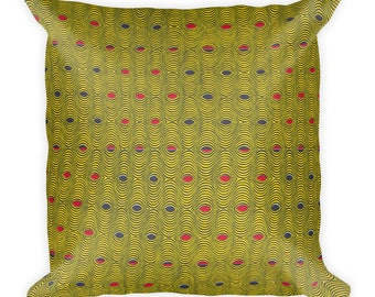 Nalongo African inspired wax printSquare Pillow