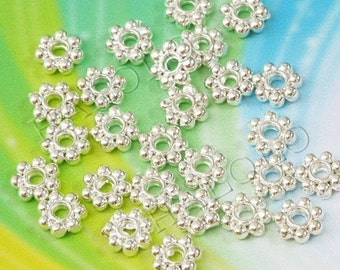 200pcs silver finish beads spacer 4mm BN146