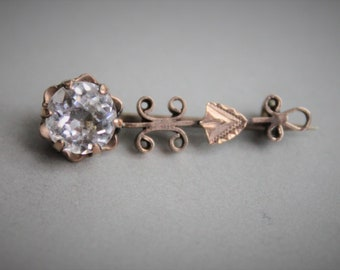 1830s Georgian Halley's Comet Rose Gold and Paste Brooch