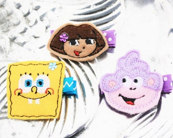 My Favorite Explorers Clippie, Your Choice of Nickelodean Themed Hair Clip
