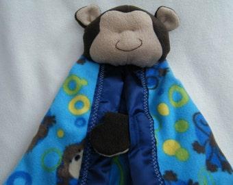 Cute Monkey Security Blanket - Blanket Buddie - HANDMADE BY ME