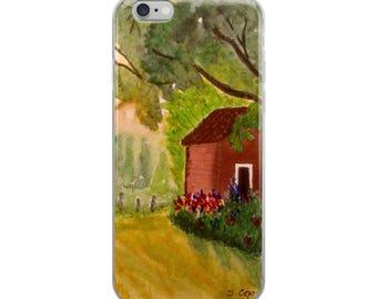 Art phone case, Watercolor landscape case, nature phone case,  iPhone 6 6s 6 plus Case, iPhone 7 7s case, iphone 8 case, iPhone X Case