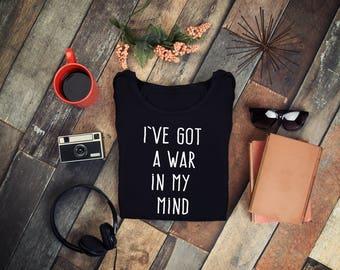 I've Got A War In My Mind Shirt,Ultraviolence,Lana Del Rey T-Shirt,Lana Del Rey Tee,Lana Del Rey Buttweiser,Born to Die Shirt,FREE Shipping