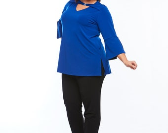 Room To Move Diamonte Top - Cobalt