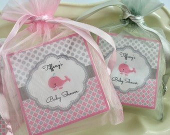 Baby  Shower Favors, Baby Whale  Shower Favors, Girl Baby Shower Favors, Soap Favors, set of 10