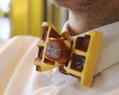 Waffle Tie Design Accessories Jewelry Rommydebommy Men Suit Bowtie Menswear Mensstyle Gentlemen Boy Men waffle breakfast honey butter lunch