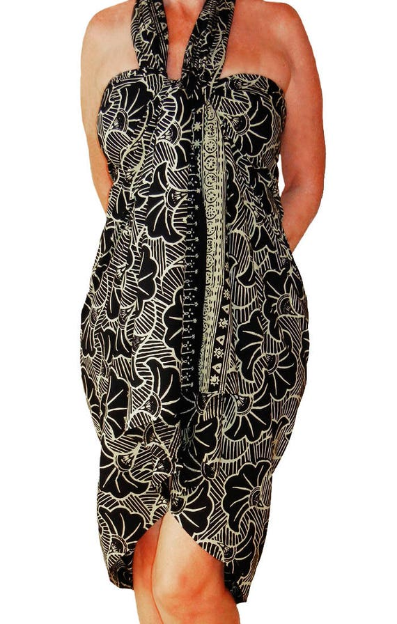 Plus Size Sarong Dress Or Skirt Womens Beach Clothing