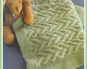 PDF Knitting Pattern Baby Blanket Knitting Pattern