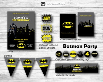 Batman invitation, batman party printables, superhero invitation, superhero party, batman birthday party, batman invite, batman birthday