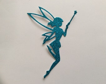 Die cut fairy - blue glitter