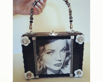 Lauren Bacall Box purse