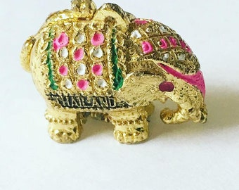 Sweetest Vintage Thailand Lucky Elephant Pendant with Secret Compartment