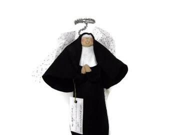 "Nun doll religious Catholic humor keepsake angel ""Nun of the Above"" the angelic nun"