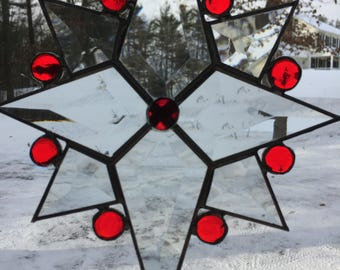 SUNCATCHER - Stained Glass 8 point Beveled Star