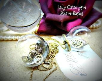 """Steampunk necklace - pendant """"bubble time"""""""