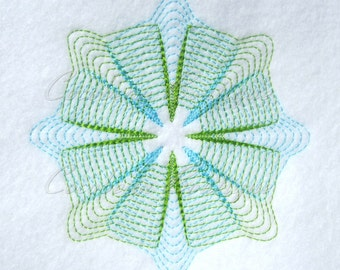 Pinwheel 3 Quilt Block-Embroidery-Instant download