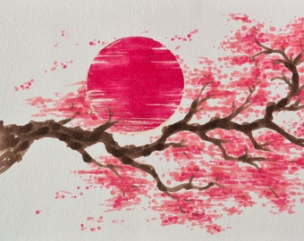 Sakura and Sun- Print