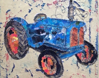 Fiddlestitch Fordson Major Tractor Canvas. Fordson Major. Tractor.