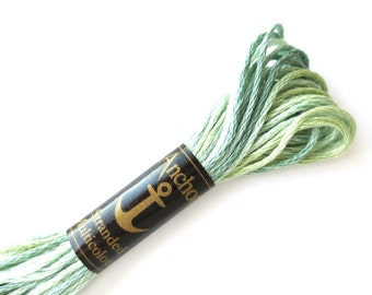 Anchor 1352 Variegated 6 Strand Floss Mintgreen Melange