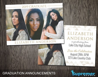 Graduation Announcement Templates for Photographers JUST FOR