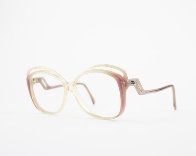 Vintage 70s Givenchy Eyeglass Frame | Clear Glasses | Perfect for Sunglasses | Givenchy AA