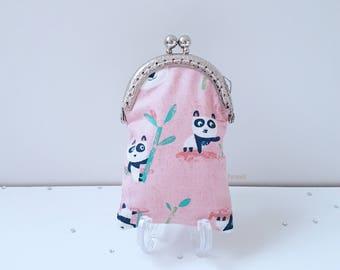 Purse mini purse coin purse change purse kiss lock clasp tooth fairy panda pandas animals kawaii cute on trend gifts for her
