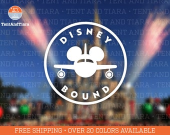 Disney Bound Airplane - Vinyl Decal Car Decal Laptop Decal Phone Decal Yeti Decal Water Bottle Decal Gift for Friend