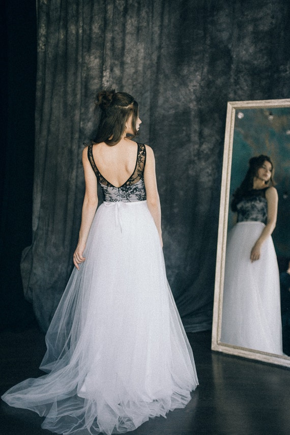 Bohemian dresses white and black