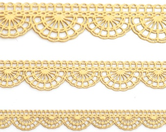 10 inches of Gold Laser Lace
