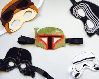 Star Wars Set of 5 Pretend Play Darth Vader Boba Fett Storm Trooper Masks
