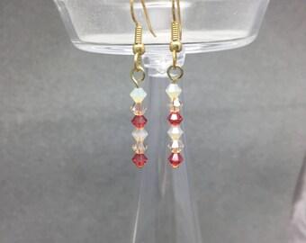 Swarovski Bead Earrings - Pink