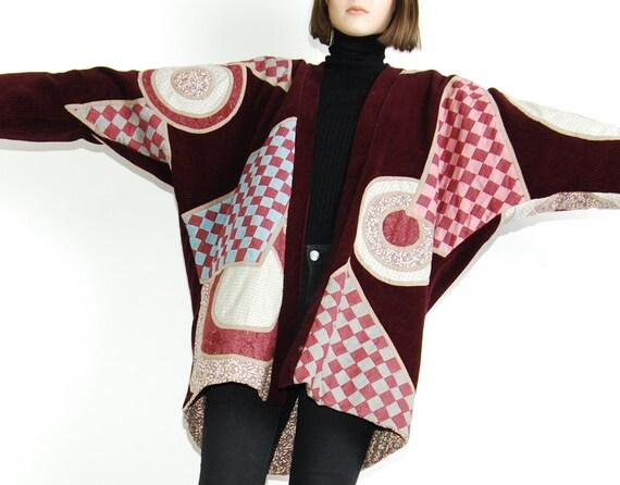 reversible reversible corduroy jacket 70s patchwork patchwork 7dRqw7