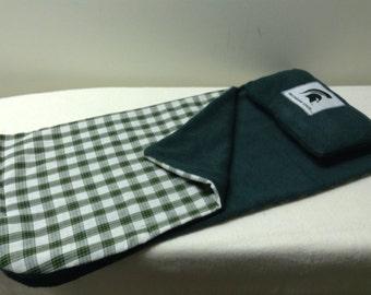 "18"" Doll Sleeping bag for Michigan State University sports team"