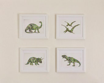 Dotted Dinosaur Paintings