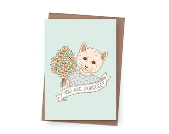 SALE Purrfect Greeting Card - 60% off