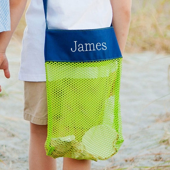 SALE - Kids Monogrammed Shell Totes