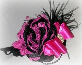 Black & Hot Pink Single Bloom