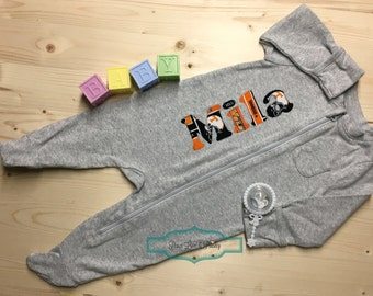 Personalized Baby Sleeper, Tennessee Vols Baby, Footed Sleeper, Baby Vols Outfit, Going Home Outfit, UT Baby, Baby Shower Gift