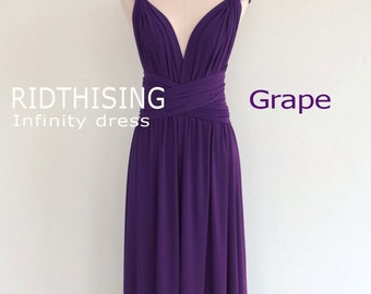 Maxi Grape Infinity Dress Bridesmaid Dress Prom Dress Convertible Dress Wrap Dress