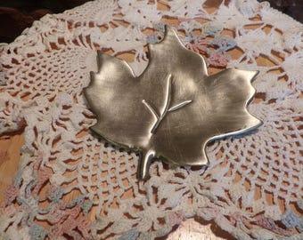 Electroplated leaf dish, leaf dish, leaf trinket dish, silver leaf