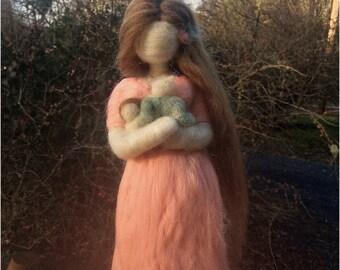 Mini Size Customizable Needle Felted Child Loss Memorial Gift rainbow baby angel baby stillborn