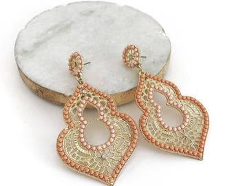 Bollywood Light Coral Earrings