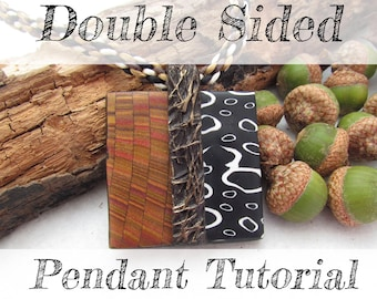 Double Sided Polymer Clay Pendant Tutorial