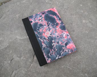 address book Marbled paper 16,5x12 cm journal italian paper index book made in italy