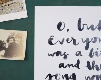 printable poetry: everyone sang
