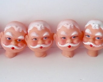 Doll Heads Handlebar Mustache Vintage Male Heads Dollmaking Art Dolls by VintageStudioSupply