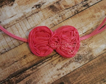 Hot Pink Mini Bow Headband- Baby Headbands- Newborn Headbands- Infant Headbands- Toddler Headbands- Girls Headbands
