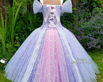 Lilac Princess Sparkly Tutu Dress-Birthday, Party, Photo Prop, Pageant, Fancy Dress, Princess
